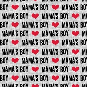Mama's boy - valentines day fabric
