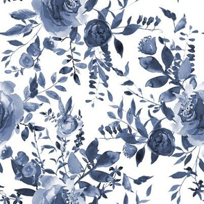 "8"" Blue and White Florals"