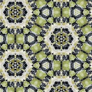 hexa-green pattern