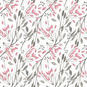Floral Pink Watercolor Flowers