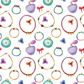 Jewelry female style seamless pattern