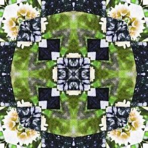 woven green circles