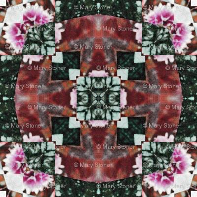 woven pink circles