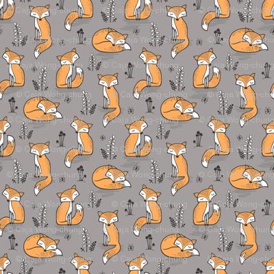 Dreamy Fox in Opal Gray  Smaller 1,5-2 Inch