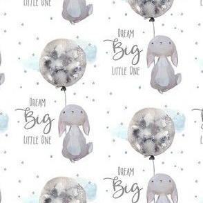 """2.5"""" Dream Big Little One Bunny with Quote"""