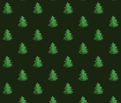 Christmas Trees fabric by hejamieson on Spoonflower - custom fabric