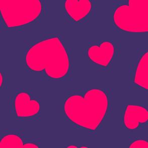 Big pink hearts