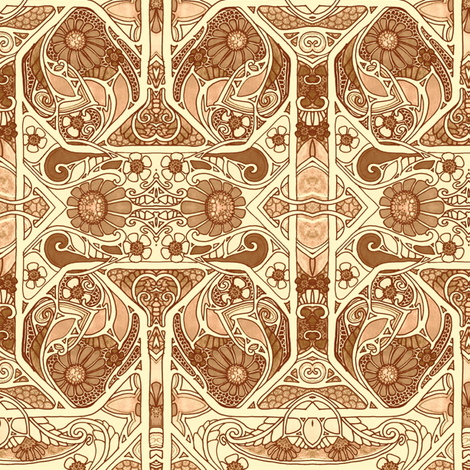 golden Garden Fantasy fabric by edsel2084 on Spoonflower - custom fabric