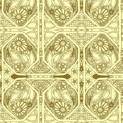 Nouveau Time Twister fabric by edsel2084 on Spoonflower - custom fabric
