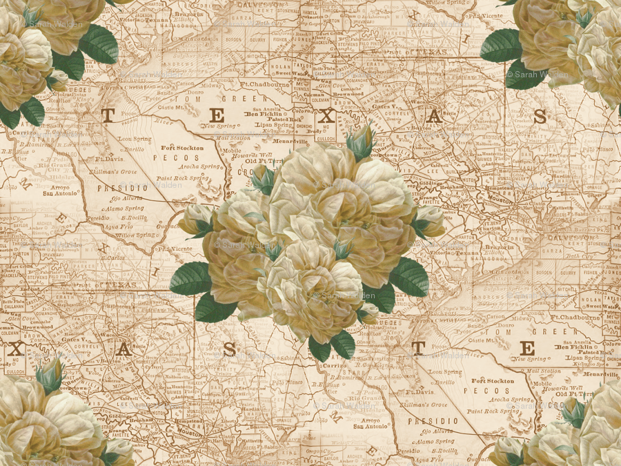 Redoute yellow rose of texas dusty trails fabric redoute yellow rose of texas dusty trails fabric peacoquettedesigns spoonflower mightylinksfo
