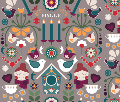 The-Hygge-Homely-House fabric by lydesign on Spoonflower - custom fabric
