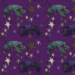 Lobster 2 purple