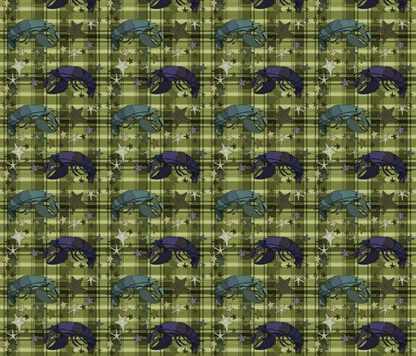 Rlobsters-on-plaid-square-olive_shop_preview