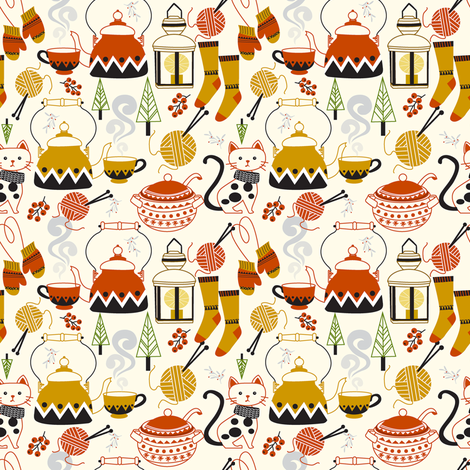 Hygge fabric by theboutiquestudio on Spoonflower - custom fabric