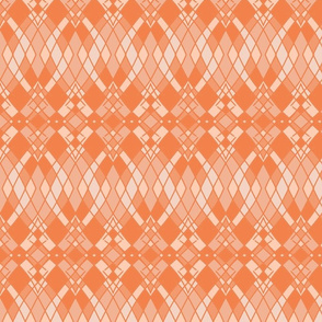 Ombre Diamonds in Coral, Peach Puff, and Salmon, Horizontal