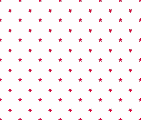 Red Star - White background fabric by white_tulip_designs on Spoonflower - custom fabric
