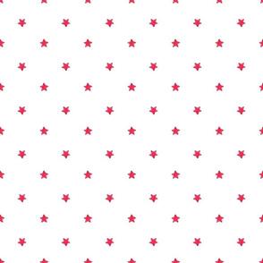 Red Star - White background