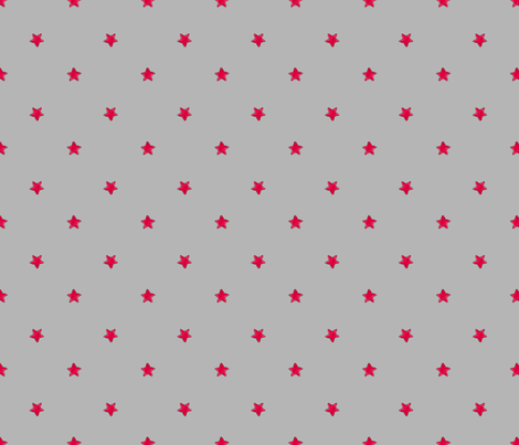 Red Star - Gray background fabric by white_tulip_designs on Spoonflower - custom fabric
