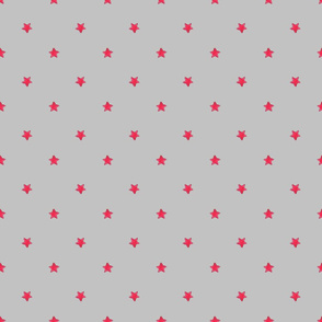 Red Star - Gray background