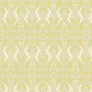 Ombre Diamonds in Khaki, Pale Goldenrod and Antique White, Horizontal