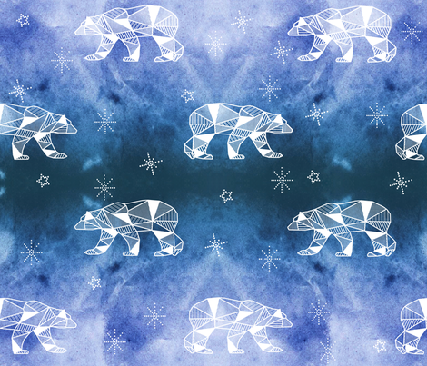 arctic skies fabric by booboo_collective on Spoonflower - custom fabric