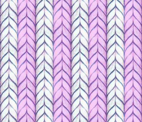 Big chunky knit in winter lavender fabric by beesocks on Spoonflower - custom fabric