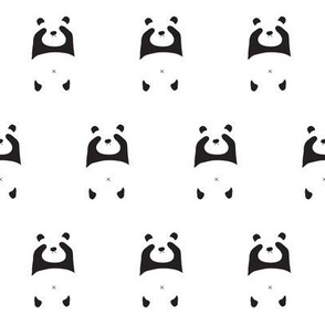 peek a boo panda in the snow