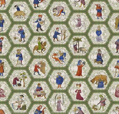 Medieval People -  Green Frame