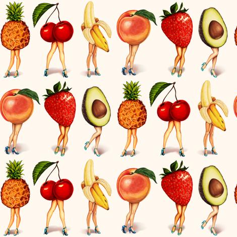 "Fruit Girls 2.5"" fabric by kellygilleran on Spoonflower - custom fabric"