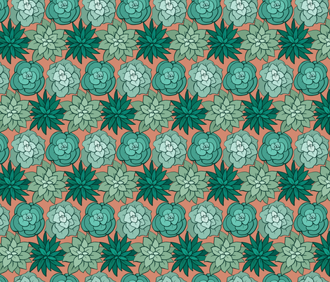 Sweet Succulents fabric by charladraws on Spoonflower - custom fabric