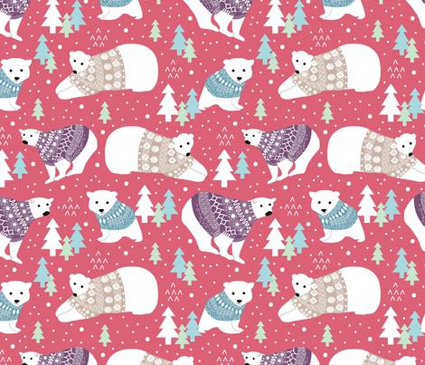 Polar Bears in Sweaters fabric by cathleenbronsky on Spoonflower - custom fabric