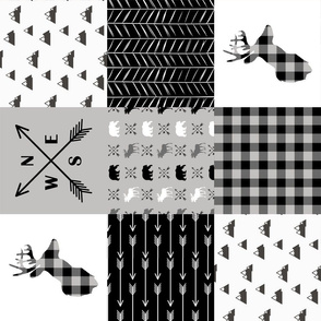 Wild one - Wholecloth Cheater Quilt - Rotated