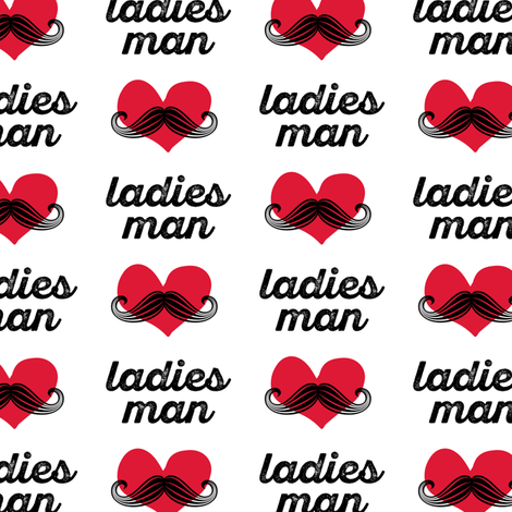 ladies man - mustache fabric fabric by littlearrowdesign on Spoonflower - custom fabric