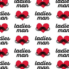 ladies man - mustache fabric
