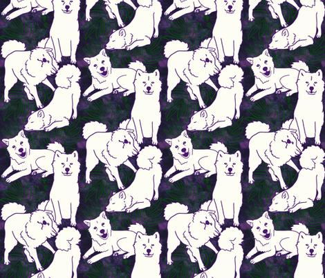 Laua'e Breezeley (purple) fabric by hakuai on Spoonflower - custom fabric