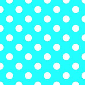 lite blue polka