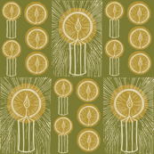 Winters light // candle light in zesty yellow green