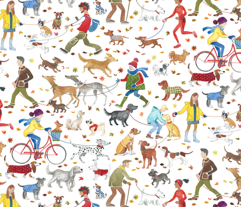 Big Winter Walkies fabric by stitchyrichie on Spoonflower - custom fabric