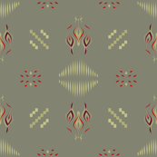Home fires on light khaki by Su_G