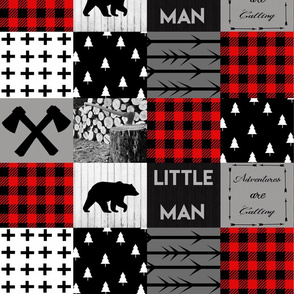 Little man lumberjack - red
