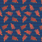 Plaid Heliconia pattern N1 (nay)