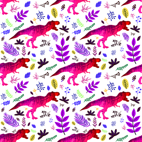 "4"" 80s Dino fabric by rebelmod on Spoonflower - custom fabric"