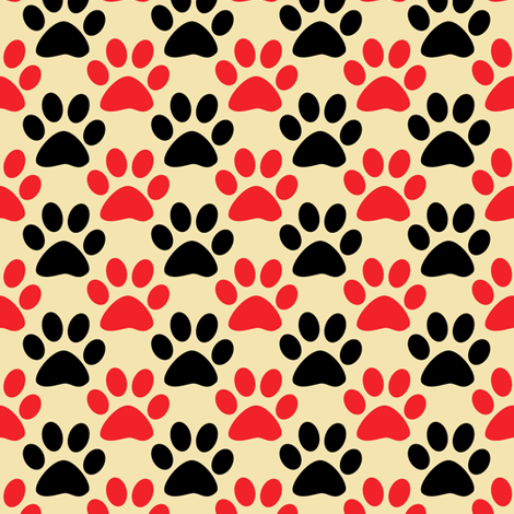 Paws 1 fabric by anniedeb on Spoonflower - custom fabric
