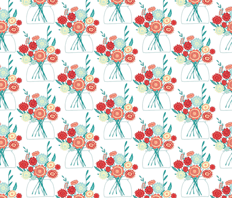 Cheery Bouquet fabric by scarlette_soleil on Spoonflower - custom fabric