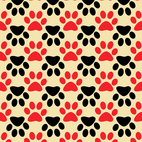 Paws 2 fabric by anniedeb on Spoonflower - custom fabric
