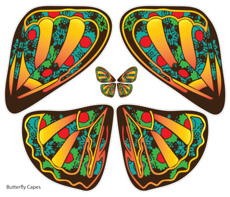 Butterfly Cape (Full Yard) fabric by the_wookiee_workshop on Spoonflower - custom fabric