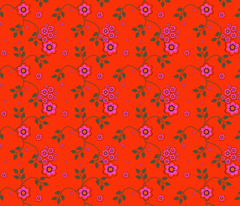 HIBISCUS DAISY fabric by clairecoloursme on Spoonflower - custom fabric