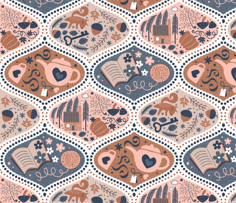 Autumn Hygge fabric by meliszawang on Spoonflower - custom fabric