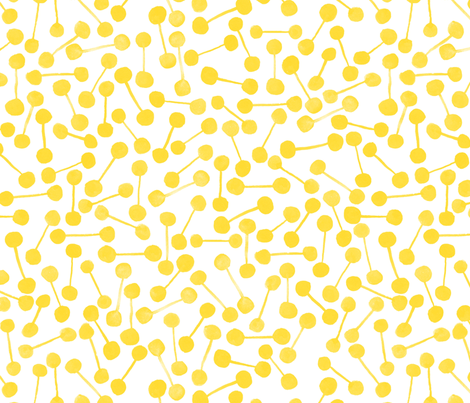 Baton - Sunshine fabric by artfully_minded on Spoonflower - custom fabric