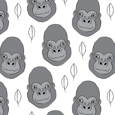 Rgorilla-and-leaves-on-white_shop_preview